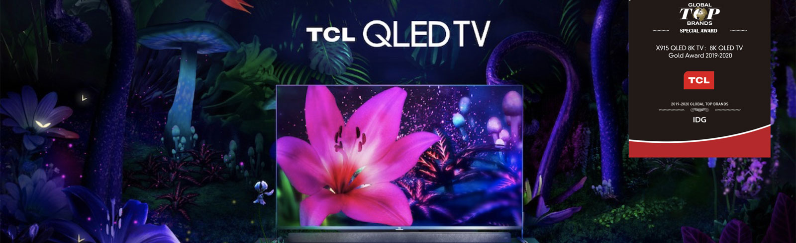 TCL 65X915 and 75X915 win the 8K QLED TV Gold Award at CES 2020