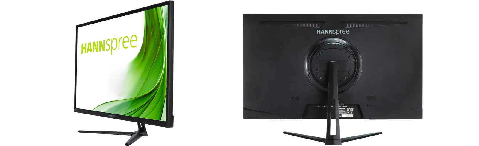 The QHD Hannspree HC322PPB and 4K Hannspree HC284UPB are launching this month