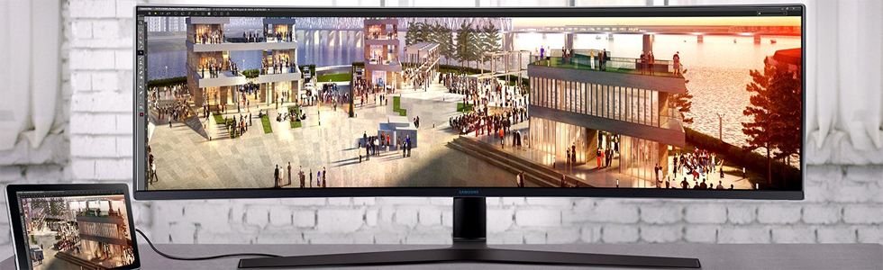 Samsung C49J89 is a 49-inch Super Ultra-wide curved business monitor