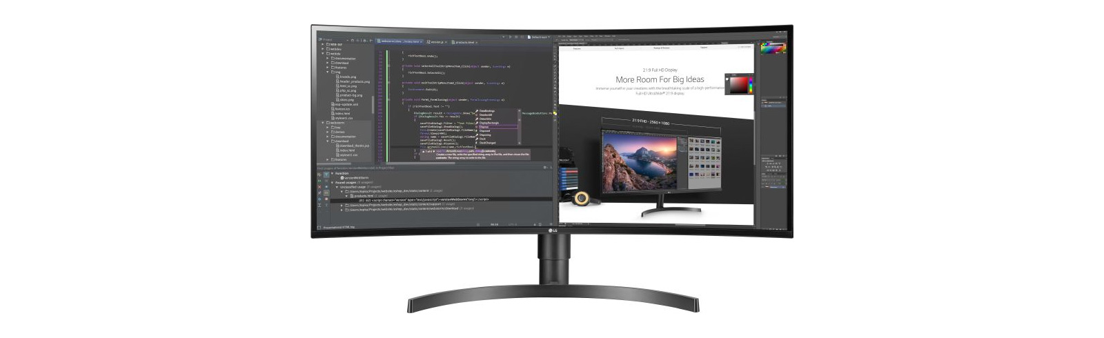 LG lists the curved 34WL75C desktop monitor