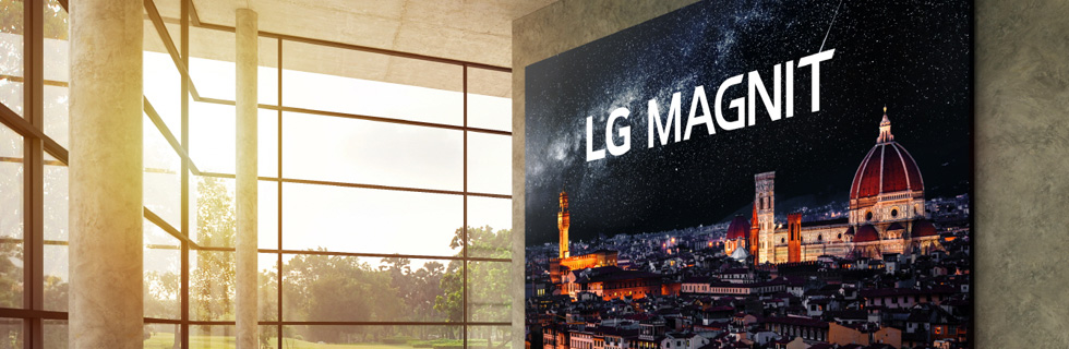 LG launches its Micro LED signage solution - the LG MAGNIT