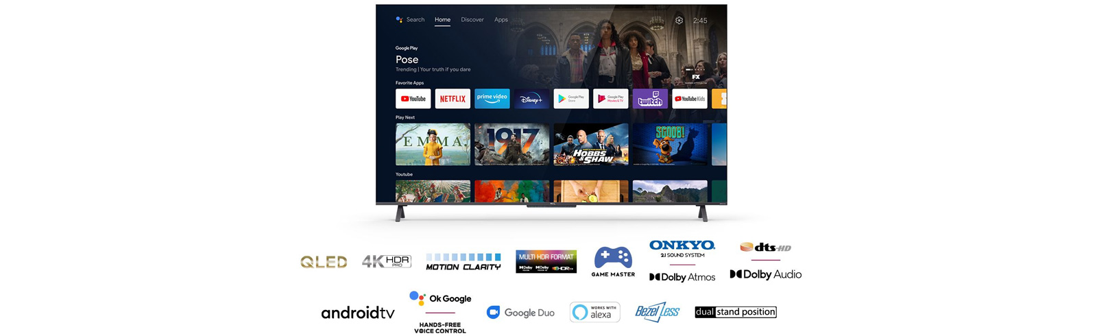 The TCL C725 4K QLED TVs are launched in Europe - specifications, features, prices