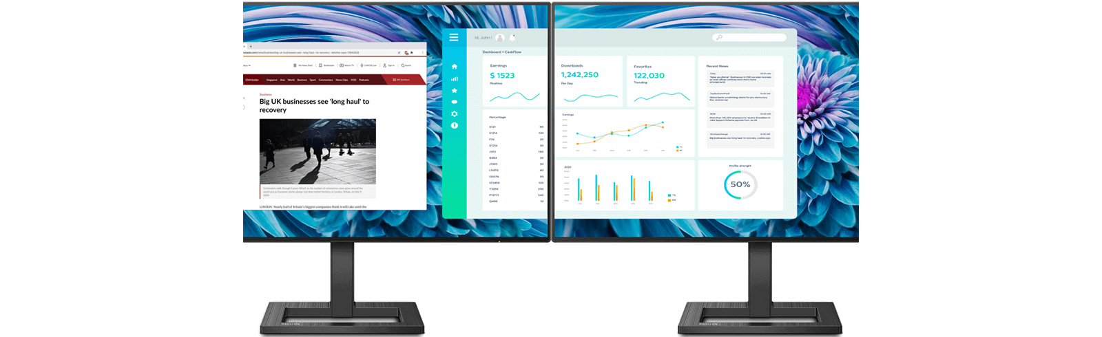 The Philips 275E2FAE arrives with CrystalClear QHD IPS display, 4-sided frameless design