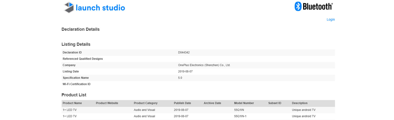 OnePlus LED TVs receive Bluetooth certification