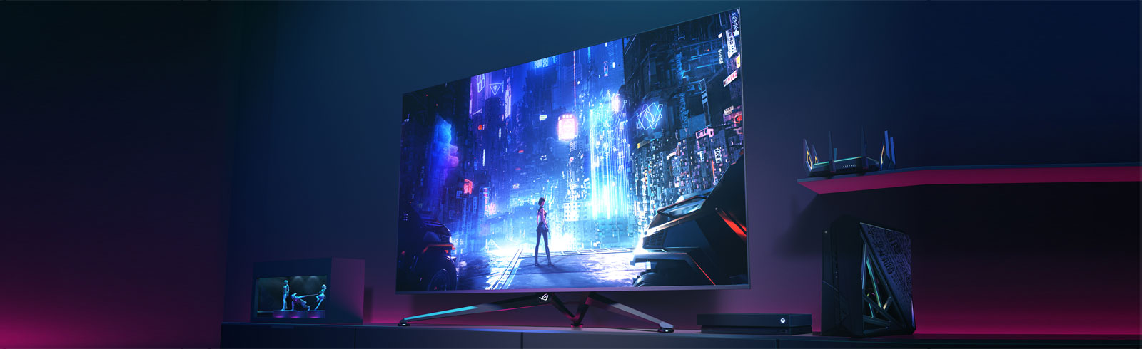 "Asus launches a big format gaming display - the 65"" 4K UHD ROG Swift PG65UQ"