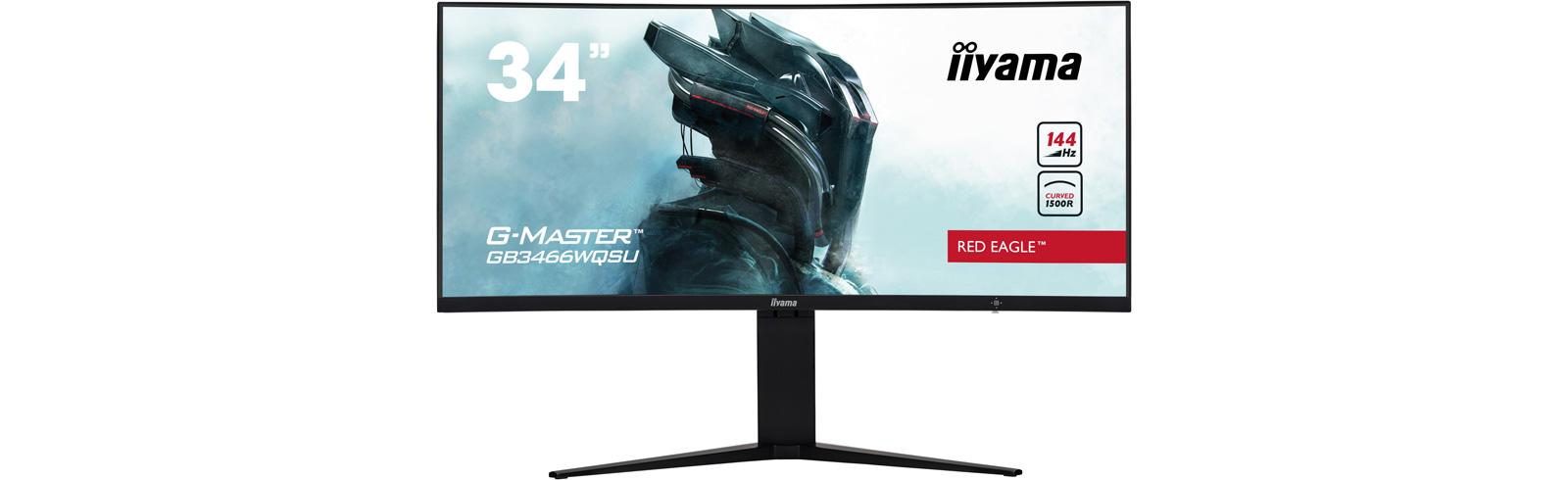 iiyama GB3466WQSU - an ultra-wide curved gaming monitor with AMD FreeSync Premium Pro support