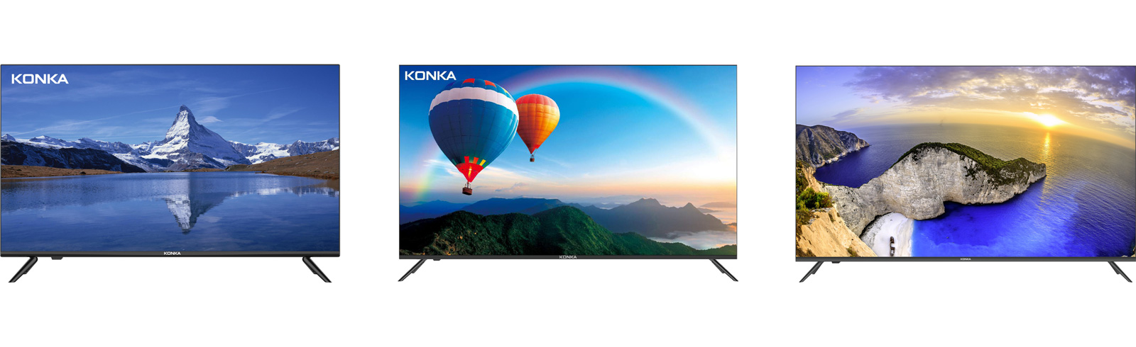 Konka made its NA debut with three TV series - H3, U5, and Q7 Pro