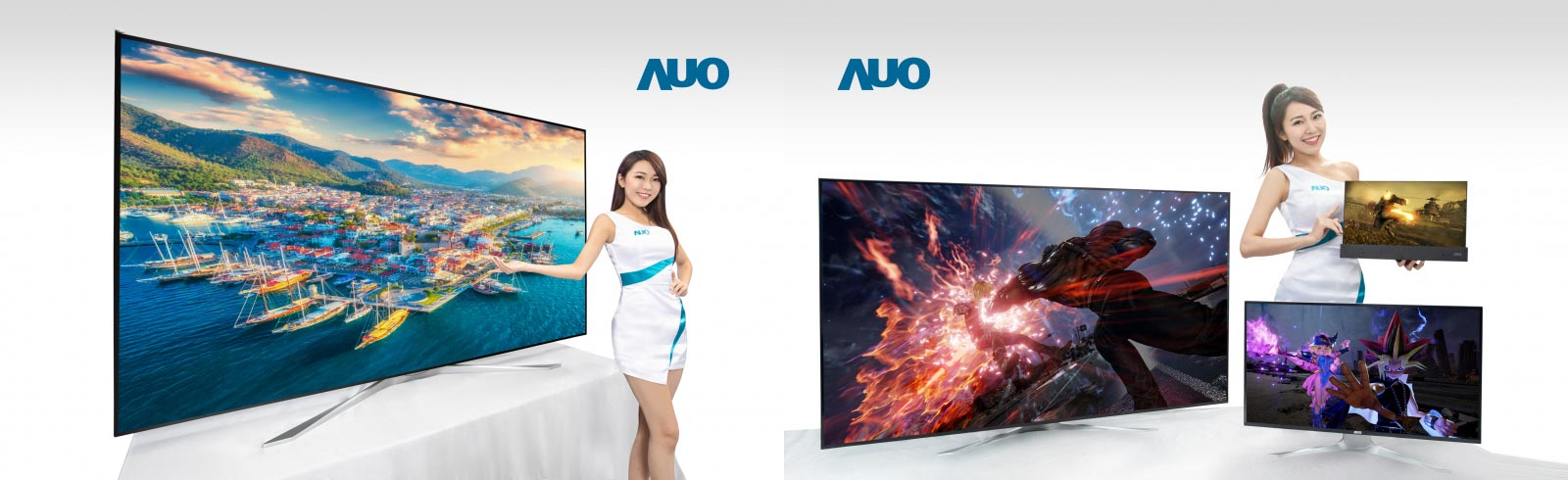 AUO will showcase an 85-inch 8K TV and a 65-inch 4K gaming monitor with Mini LEDs