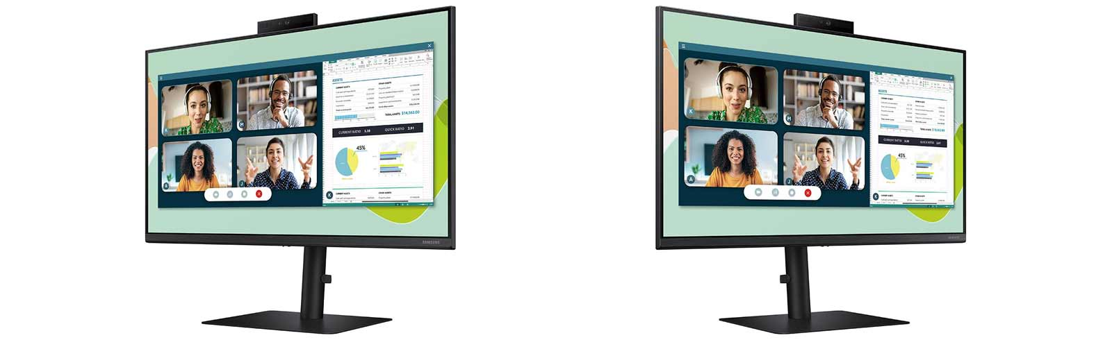 The Samsung 24S40VA is created for web conferencing, education, work, and entertainment