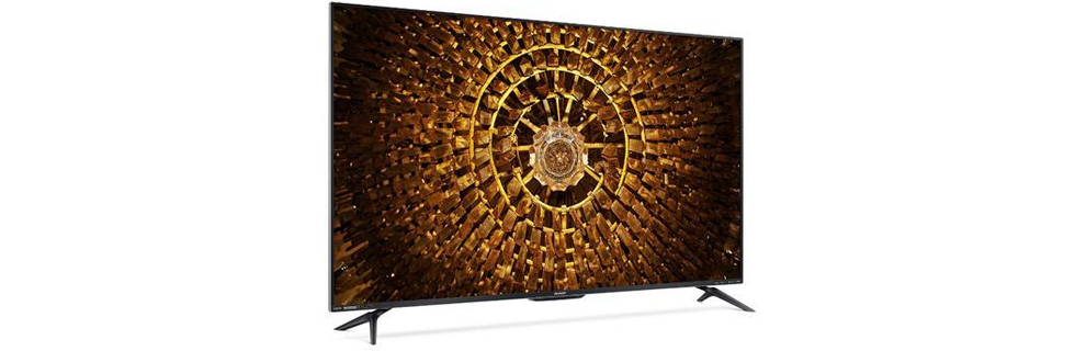 Sharp launches the Aquos 7 series of 4K TVs in China - the Sharp 60SU875A and the Sharp 70SU875A