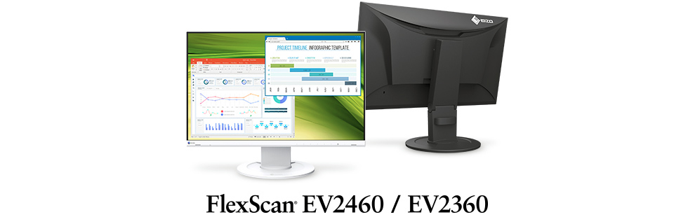 Eizo launches two FlexScan monitors with frameless design - the FlexScan EV2460 and FlexScan EV2360