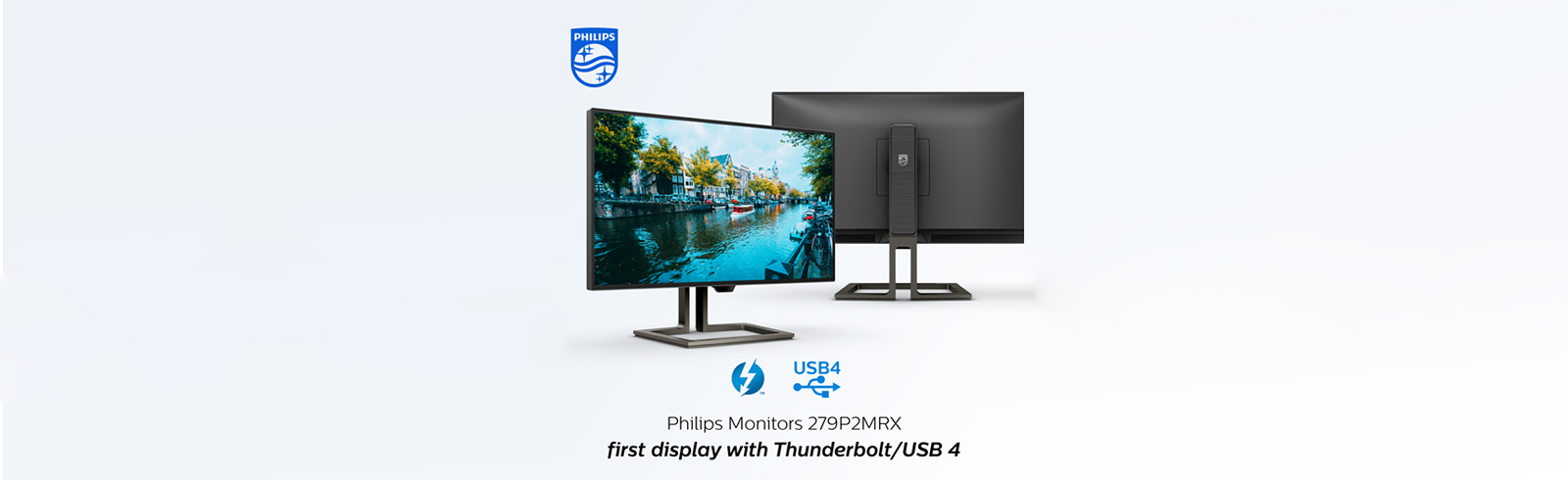 "Philips 279P2MRX - an upcoming 27"" 4K Mini-LED desktop monitor with two Thunderbolt 4 ports"