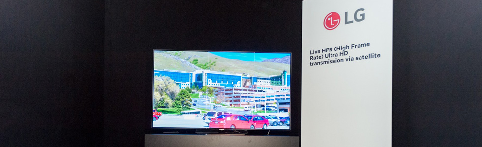 LG and SES demonstrate a live HFR UHD transmission via satellite