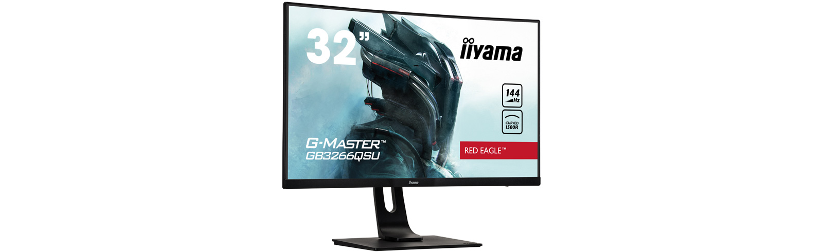 iiyama G-Master GB3266QSU-B1 is a new curved 144Hz QHD gaming monitor from the Red Eagle series