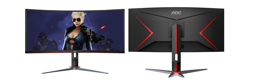 AOC CU34G2X is a new curved gaming monitor from AOC