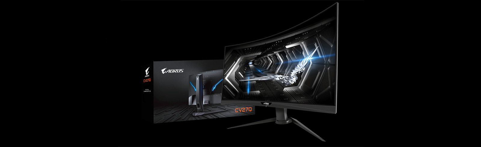 Gigabyte further expands the AORUS lineup of gaming monitors with the AORUS CV27Q