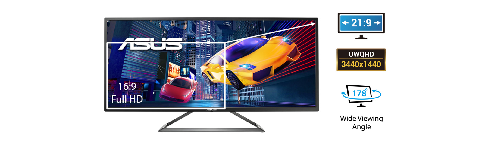 Asus unveils a 34-inch UWQHD gaming monitor with 75 Hz refresh rate