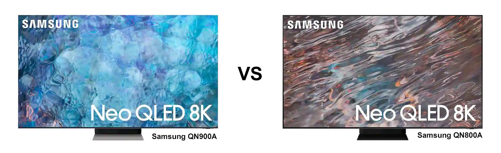 Samsung Neo QLED 8K TV series - comparison, QN900A vs QN800A