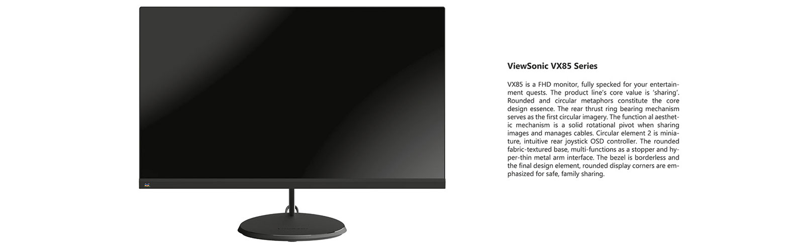 The ViewSonic VX85 monitor series is launched with the VX2485 and VX2785 models
