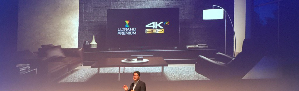 Panasonic showcases its UHD OLED TVs from the DX900 series at the IFA in Berlin