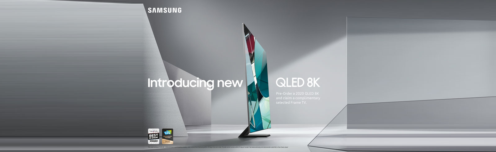 Samsung UK offers a free Frame TV when pre-ordering a 2020 QLED 8K TV