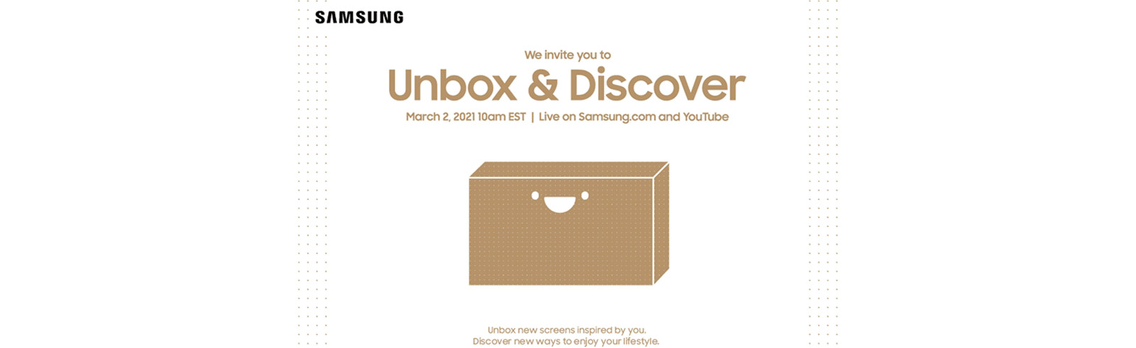 Samsung Unbox & Discover 2021 event will be held on March 2