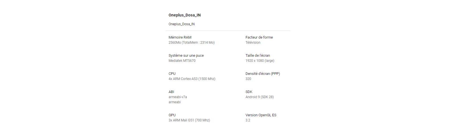 "OnePlus TV rumoured specifications - 4K UHD, 55"", Mediatek MT5670 SoC, 3GB RAM"