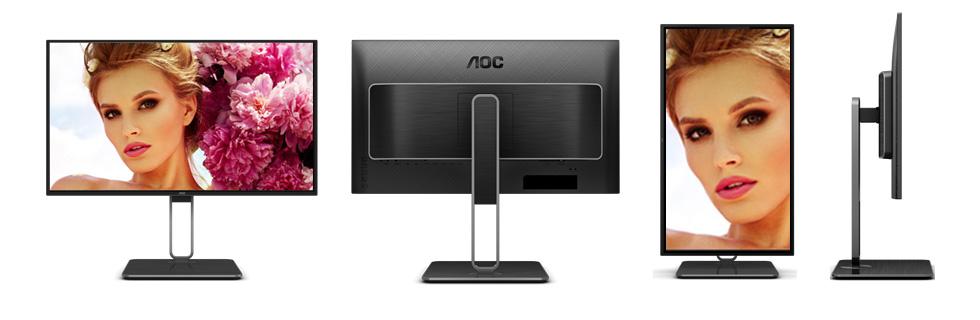 "AOC U27U2 / U27U2D offers a 27"" 4K AH-IPS display, USB-C port, KVM switch"