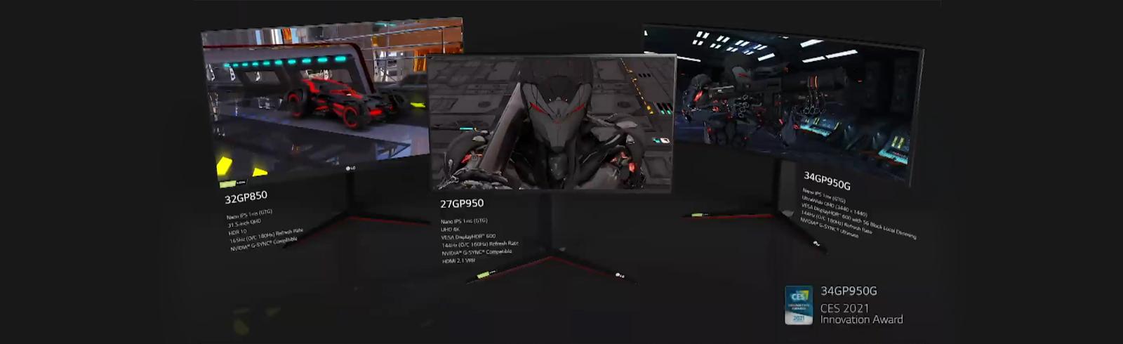LG unveils the UltraGear 34WP950G, 34GP950 and 32GP850 gaming monitors