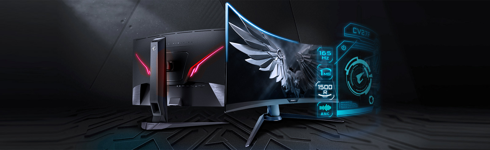 Gigabyte introduces the AORUS CV27F gaming monitor with a 1500R curvature