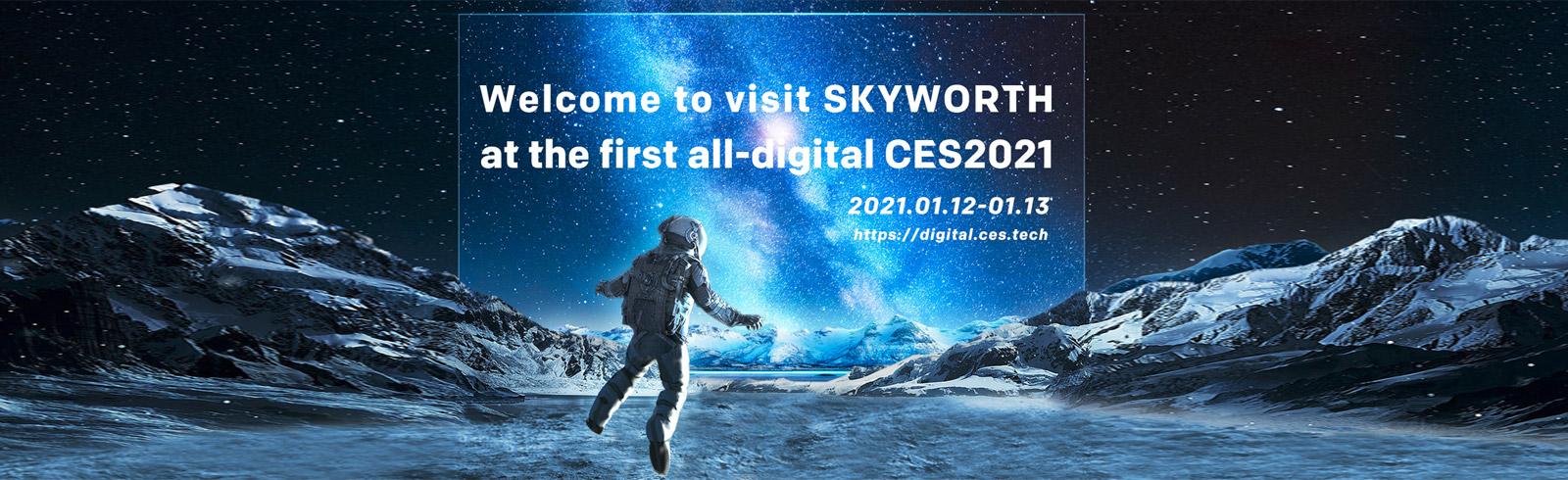 2021 Skyworth TV are presented, including 4K OLED models