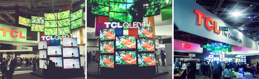 TCL has introduced a new range of QLED TVs with AI at the IFA 2017 in Berlin