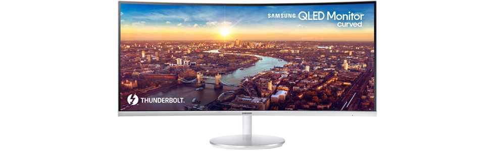 Samsung to showcase the first curved QLED monitor with Thunderbolt 3 at CES 2018