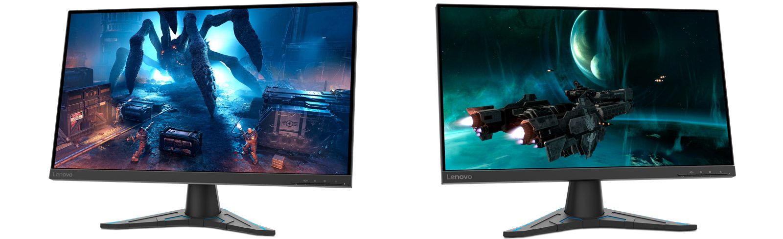 The Lenovo G27e-20 and Lenovo G24e-20 cater to gamers and offer eye protection