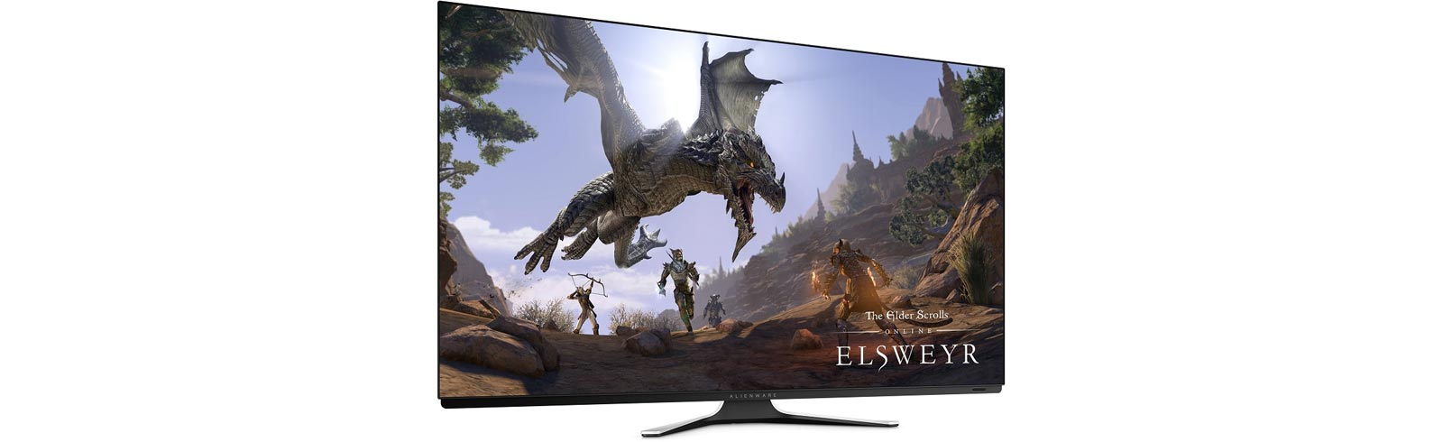 "Dell will showcase four gaming monitors at Gamescom 2019, includuing the 55"" OLED AW5520QF monitor"