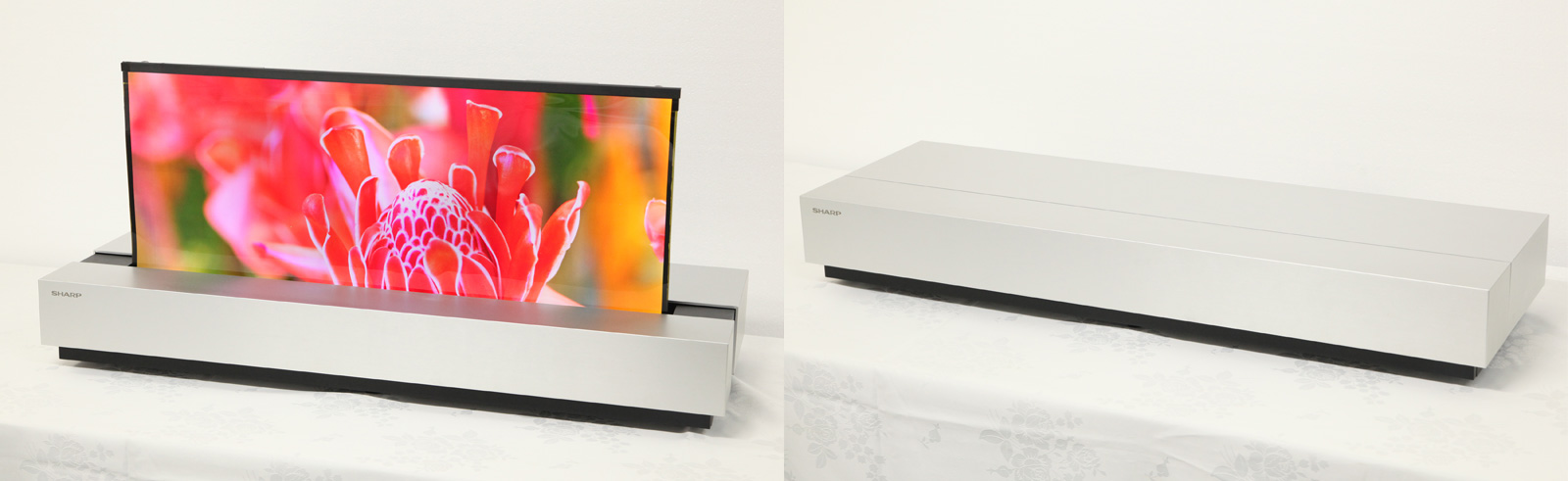 Sharp unveils a rollable 30-inch 4K OLED TV
