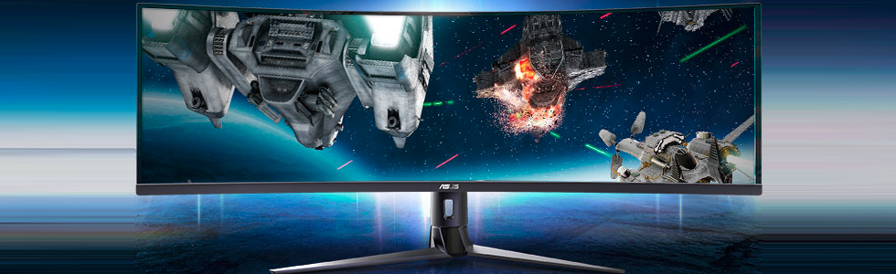 Asus VG49V - a 49-inch super-ultra-wide curved monitor for gamers and professionals