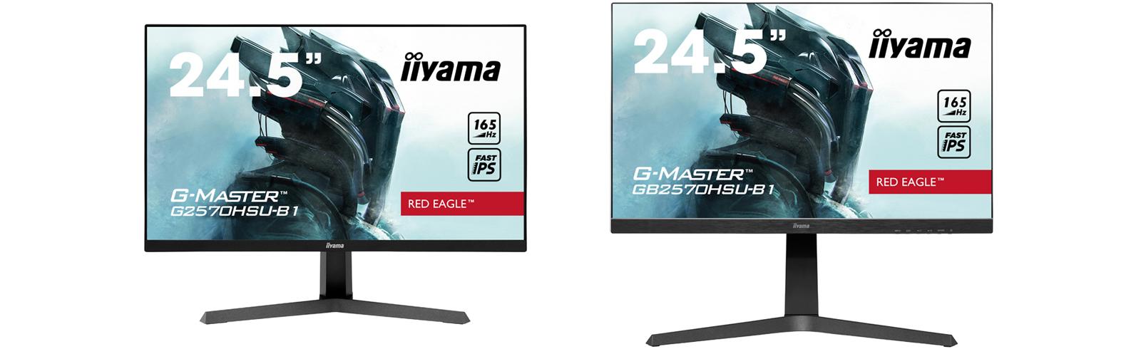 iiyama G-Master GB2570QSU-B1 and G2570QSU-B1 go official with FHD Fat IPS display, 165Hz refresh rate
